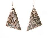 Birch Triangle Earrings.