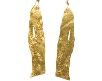 Gold Birch Earrings.