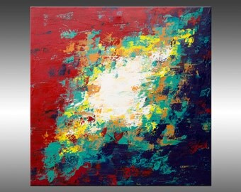 Searching 11 - Large 30x30 Inch Square Original Modern Art Painting, Acrylic on Canvas, Contemporary Abstract Painting