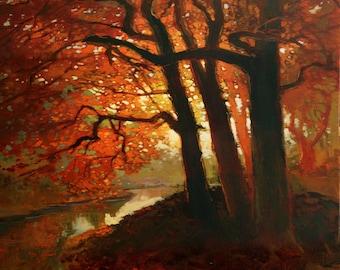 Warm Light - Giclee Fine Art PRINT of Original Painting matted 16x20 by Jan Schmuckal