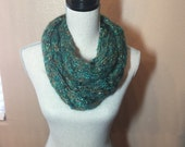 Mohair Cabled Hand Knit Scarf
