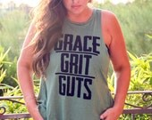 Backless Lounge Muscle Tank/ Grace Grit Guts/ Flowy Muscle Tank/ Made in the USA/ One Size/ Workout Tank