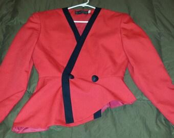 Asymmetrical Vintage 80s Suit Jacket Size S
