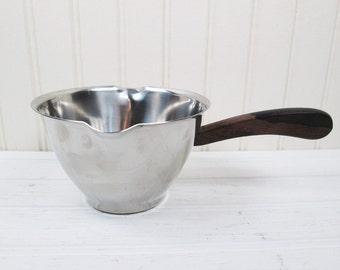 Vintage Kalmar Stainless Steel Butter Warmer Sauce Server Ladle Danish Modern Denmark
