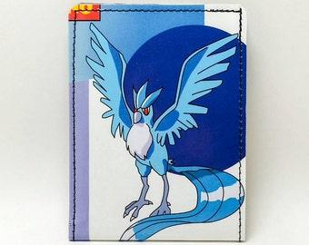 Sewn Comic Book Wallet - Pokemon Handbook Wallet - Articuno