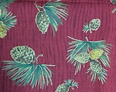 Fall pine cone fabric - 14 inches x 72 inches
