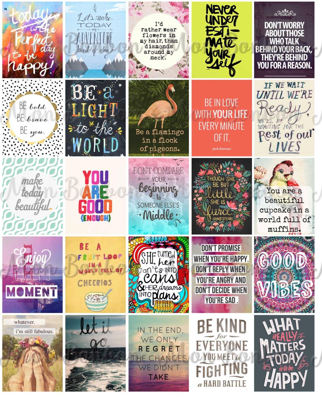 Motivational Life Planner Sticker Sheet Printable by monbonbon