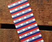 RESERVED - Vintage Gummed Labels Strip - Via Air Mail - 2 Sheets - 20 Air Mail Labels - RESERVED