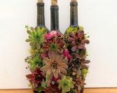 Succulent Wine Bottle Planter