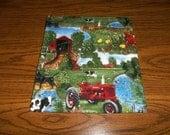 Large Microwave Potato Bag Farmall Tractor Cotton Fabric