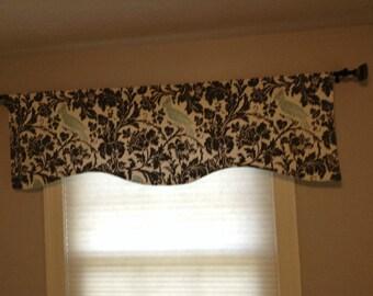 Window Treatments-CHOOSE SIZE-LINED-Valance-Curtain-Kitchen-Bedroom-Bathroom-Dining Barber Bird-Width x16,18,20 Purple/Gray/Navy/Premier