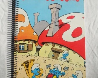 Smurfing Sing Song Original Record Album Cover Notebook