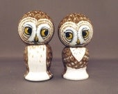 Brown Owl Cake Wedding Toppers