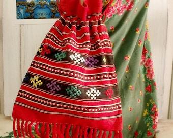 Vintage Portugueses folk sac bag hand woven