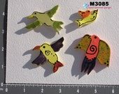 4 Birds -  Kiln Fired Hand Paint Handmade Mosaic Tiles use in your project  M3300