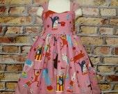 Circus Girl Dress, Pink Circus Dress, Girl Dress, Summer Dress, Toddler Pink Dress, Birthday Girl Dress, Fall Girl Dress