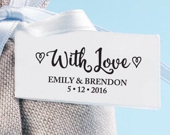 With Love Wedding Favor Stamp with proof from USA, Self-Inking stamp, Thank You Stamp, Custom Wedding Stamp, Favor Stamp, WITH LOVE 251
