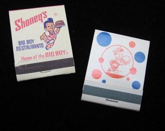 Pair Vintage Big Boy Restaurant Matchbooks