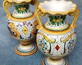 Set of 2 Deruta Italy Raffaellesco vases