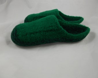 Wool Knit Felted House Shoes, Slippers, US Women's Sz 9-9 1/2