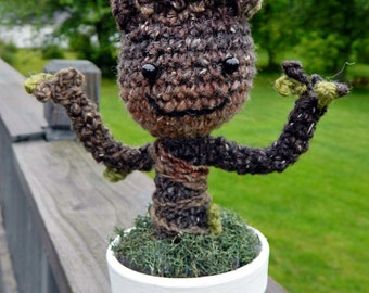Crochet Baby Groot Tree