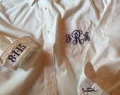 Monogrammed Personalized Oversized Bride Bridesmaid shirt  Button Down oxford shirt