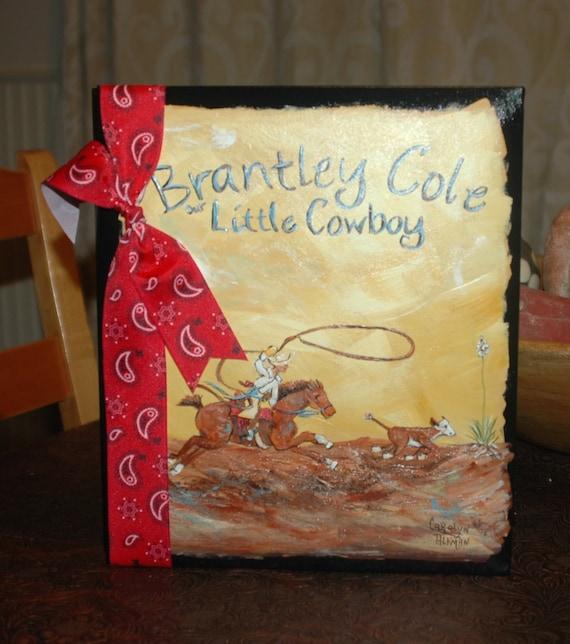 Baby Book | Little Cowboy Baby Memory Book | Custom Baby Book