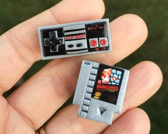 NES Controller and NES Game Cufflinks