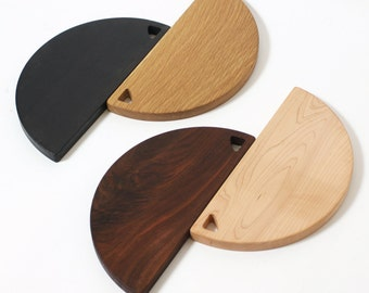 "Evn / Stevn 16 inch cutting boards and serving trays for the modern home and kitchen 16"" diameter"
