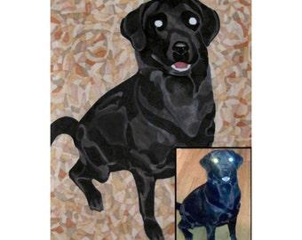 Custom Pet Portrait From Photo - Full Color - 8x10