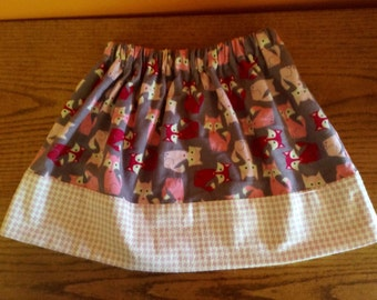 NEW What Does A Fox Say skirt Size 5/6 ready to ship matching for sisters