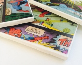 Spider-Man Tile Coasters - set of 4