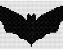 Simple Black Bat Cross stitch pattern PDF