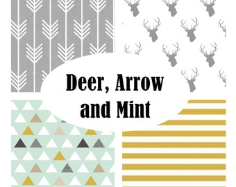 Custom Crib Bedding-3 piece-Deer,