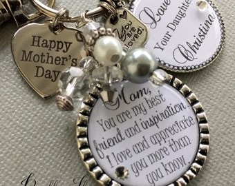 PERSONALIZED jewelry, Mother's Day gift, mom from daughter, MOTHER of the BRIDE gift, best friend and inspiration, Happy Mother's day