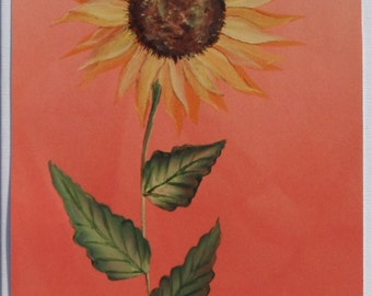 Hand Painted Sunflower Card Painted Sunflower Card
