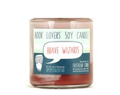 Frosty Brave Wizards - Soy Candle - Clearance - Book Lovers' Scented Soy Candle - 8oz jar