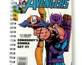 Avengers Journal & Sketchbook // Recycled Vintage Comic // Ant Man and Hawkeye