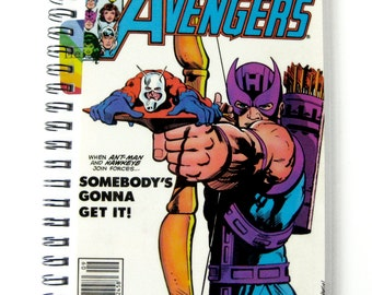 Avengers Journal & Sketchbook // Recycled Vintage Comic // Ant Man and Hawkeye