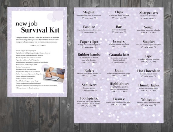 New Job Survival Kit DIGITAL DOWNLOAD ONLY
