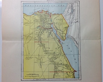 Color Egypt Country Map - 1897