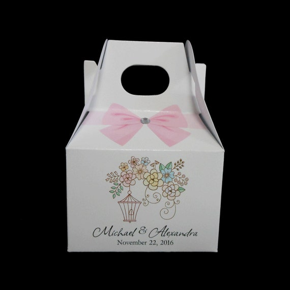 Wedding Favor Boxes Personalized Favor Boxes Bird Cage
