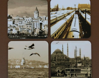 Golden Istanbul Coaster Set