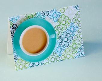 Wallpaper Coffee Cup Notecard