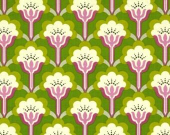 Heather Bailey Lottie Da True Colors Pop Blossom Green Fabric, 1 Yard