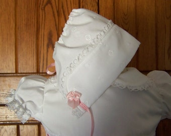 Infant Eyelet Blessing Bonnet
