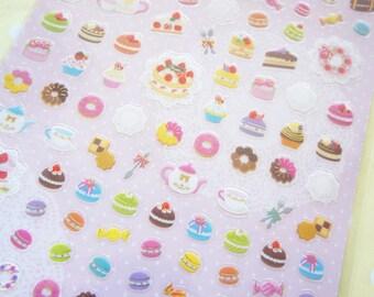 1 Sheet  / Macaroon, candy, cake, cupcake, Tea, Doughnut..etc