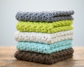 Mix and Match any 2 Colours, Cotton Dishcloths, Washcloths