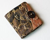 Handmade Needle Book Sewing - Crazy Quilting Embroidery with Vintage Button