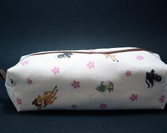 Boxy Makeup Bag - Disney's Bambi Print Zipper - Pencil Pouch